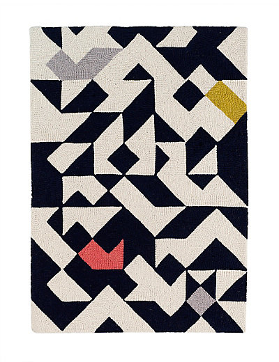 100 black and white triangle rug modern area rugs contempor